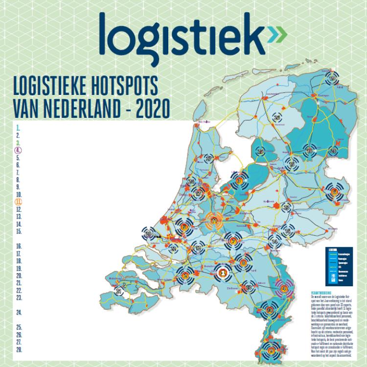 Logistieke Hotspots van Nederland 2020